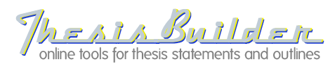 ozline thesis builder Tom march:: thesis builders - ozline if you have enjoyed using any of the thesis builders since i first posted them in 1995, use.